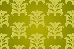 Green Yellow Chinese Flower Paper