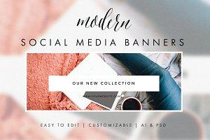 Social Media Banners - Modern