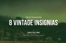 8 Vintage Insignias - Collection n°1