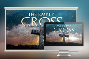 Empty Cross Church Slide Photoshop