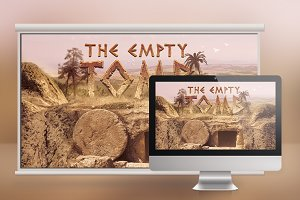 Empty Tomb Slide Photoshop
