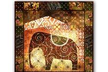 Grunge Elephant. Africa.