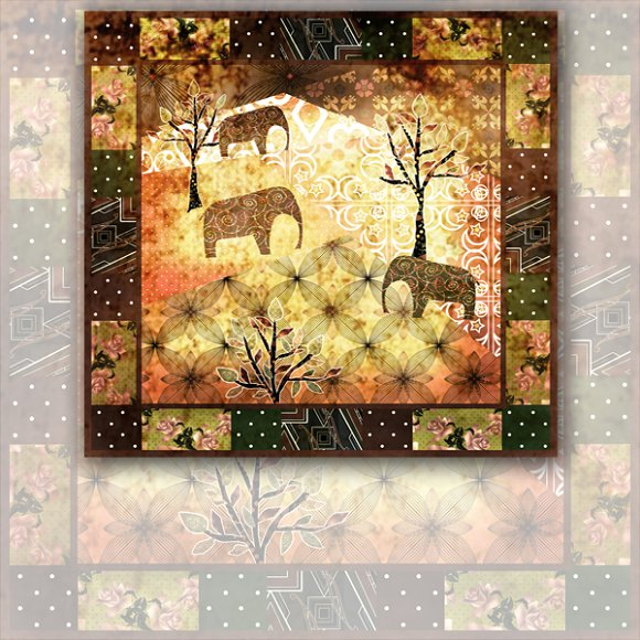 Grunge Elephant. Africa.2 - Patterns