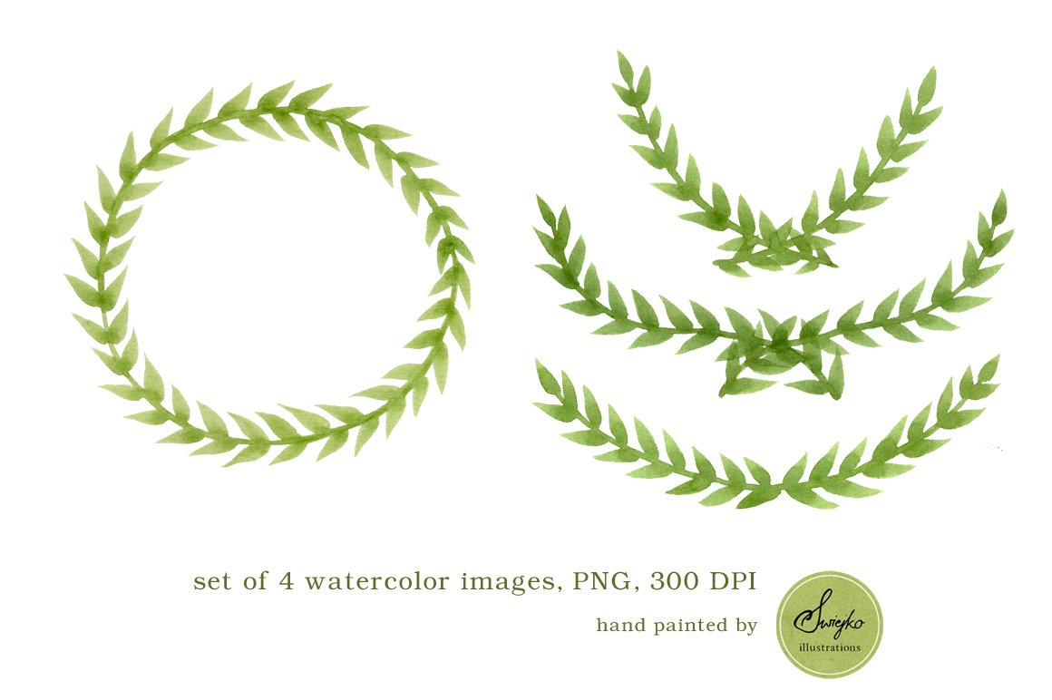 Watercolor Frames Foliage Illustrations Creative Market