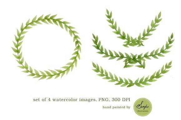 Watercolor Frames , Foliage ~ Illustrations ~ Creative Market