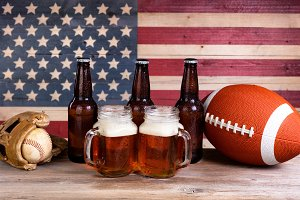 Sports and Beer for summer holiday
