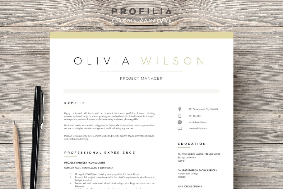Executive Cover Letter Template Word from images.creativemarket.com