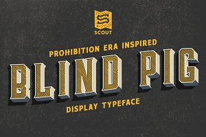 Blind Pig Display Font