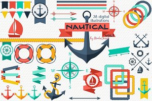 Nautical Vol.1 - Summer Cliparts