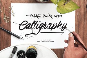 DIY Calligraphic Brush Kit