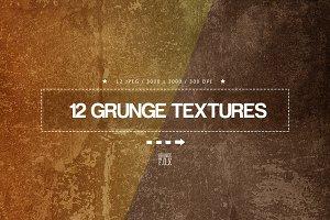 12 Grunge Textures