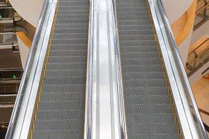 Escalator in a mall