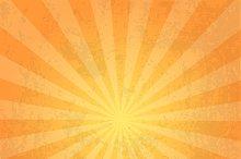 Orange color burst