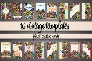 Vintage cards tamplates