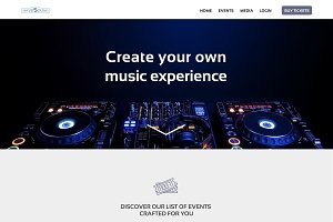 Event Organization PSD Template