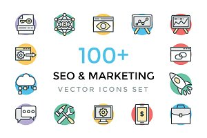 100+ SEO and Marketing Icons