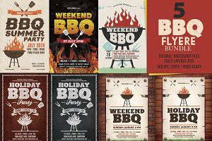 BBQ Flyer Templates Bundle