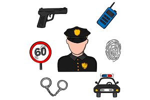 Policeman profession concept