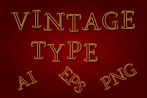 Vintage Type Vector & PNG