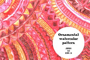 Watercolor ornamental background