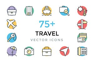 75+ Travel Vector Icons