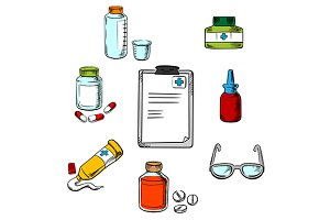 Prescription and medical icons