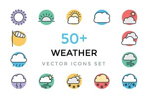 50+ Weather Vector Icons