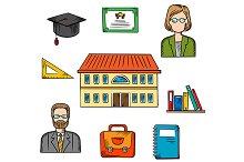 School education vector design