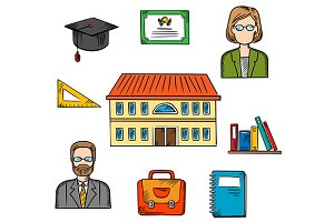 School education vector design