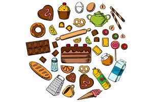 Pastry, dessert and confectionery