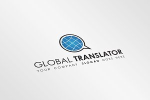 Global Translator Logo Template