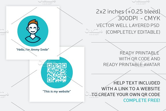 Square business card qr code business card templates creative square business card qr code business cards reheart Choice Image