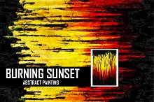 abstract sunset painting