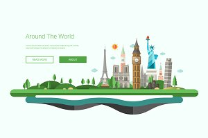 Traveling Website Header Template