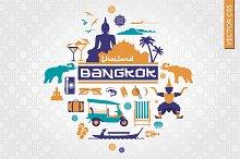 Bangkok Thailand vector illustration