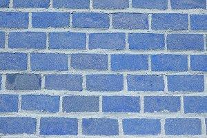 blue bricks background