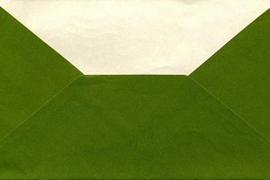 Green envelope isolated