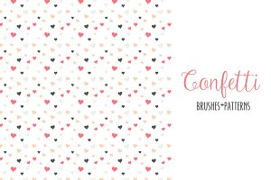 Confetti Scatter Brushes & Patterns