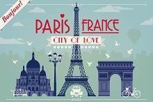 Paris. City of Love - vector