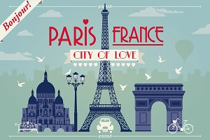 Paris. City of Love - vector