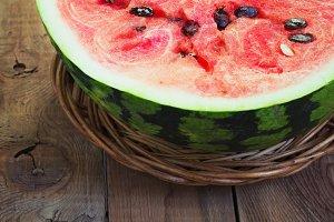 Cut in half watermelon