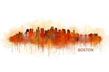 Boston Cityscape Skyline