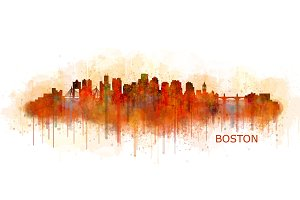 Boston Cityscape Skyline