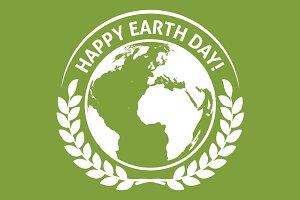 World Earth Day emblem label