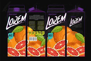 Packaging Design Grapefruit Juice