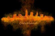 Cleveland Cityscape Skyline