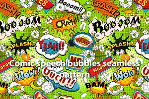 Bright comics speech bubbles vector