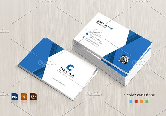 Corporate business card business card templates creative market reheart Image collections
