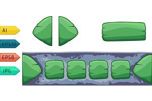 Set of game cartoon buttons.