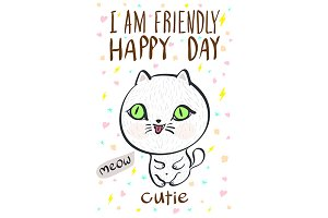 i am friendly happy day cutie